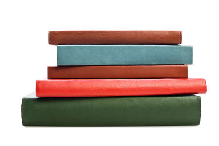 book spine: Books on white background. No labels, blank spine.