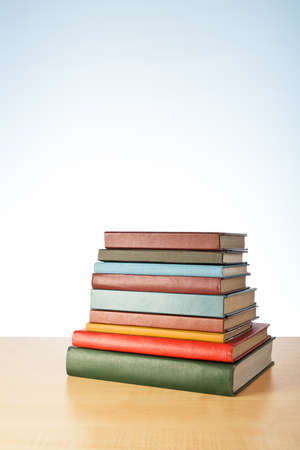 Books on the table. No labels, blank spine. Stock Photo - 21088883