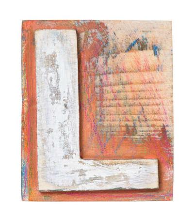 Wooden alphabet block, letter L Stock Photo - 21088913