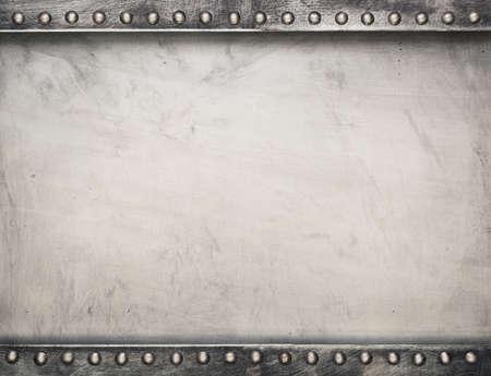Industriële metalen plaat achtergrond met klinknagels Stockfoto - 21088949