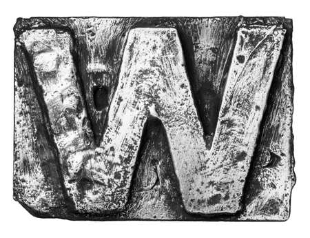 Metal alloy alphabet letter W Stock Photo - 22101378