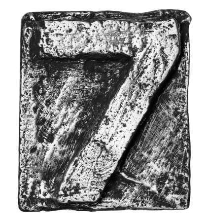Metal alloy alphabet number 7 Stock Photo - 22107905