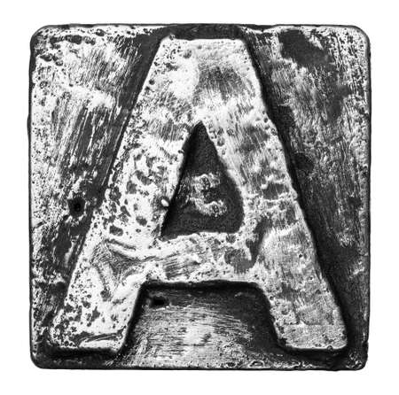 Metal alloy alphabet letter A Stock Photo - 22107913
