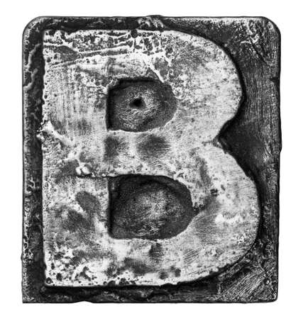 alloy: Metal alloy alphabet letter B Stock Photo