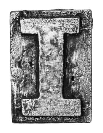 Metal alloy alphabet letter I photo