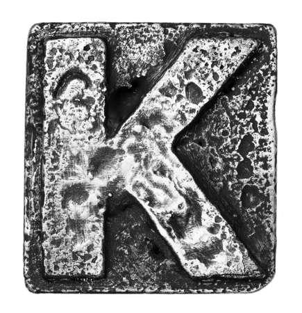 alloy: Metal alloy alphabet letter K