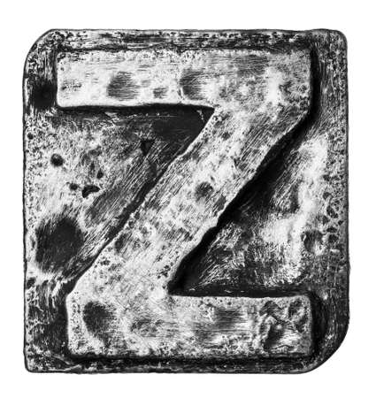 Metal alloy alphabet letter Z Stock Photo - 22107957