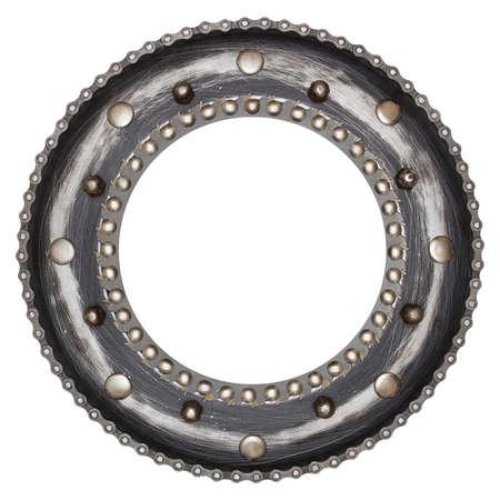 shiny metal: Industrial metal alphabet letter O