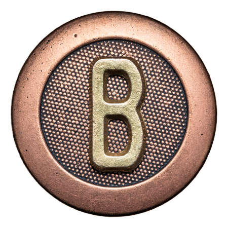 Metal button alphabet letter photo