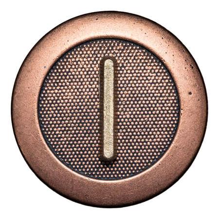 Кнопки: Кнопка Металл буквы алфавита