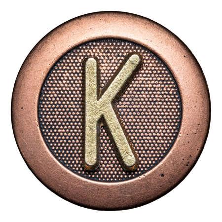 Metal button alphabet letter Stock Photo - 22557115