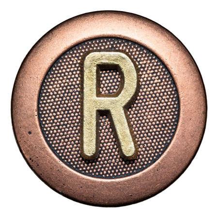 Metal button alphabet letter Stock Photo - 22557125