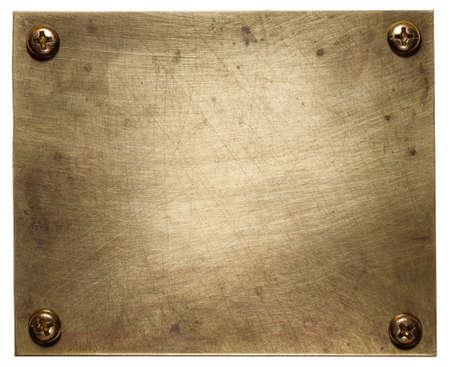 Textura de bronze placa, fundo metal.