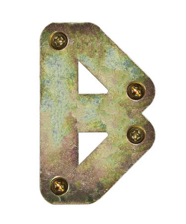 letter head: Old metal alphabet letter B Stock Photo