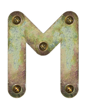 Old metal alphabet letter M photo