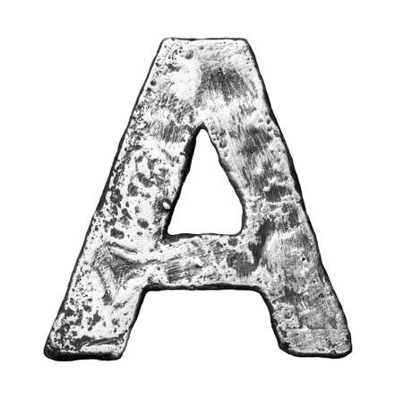 Metal alloy alphabet letter A Stock Photo - 22729134