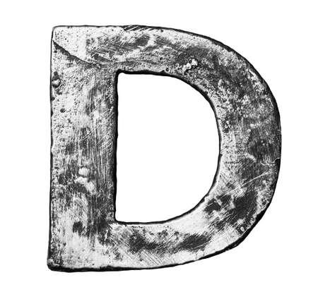 alloy: Metal alloy alphabet letter D Stock Photo