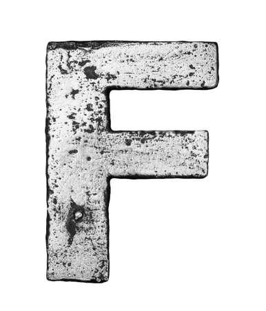 Metal alloy alphabet letter F Stock Photo - 22729140