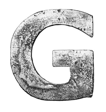 Metal alloy alphabet letter G Stock Photo - 22729141