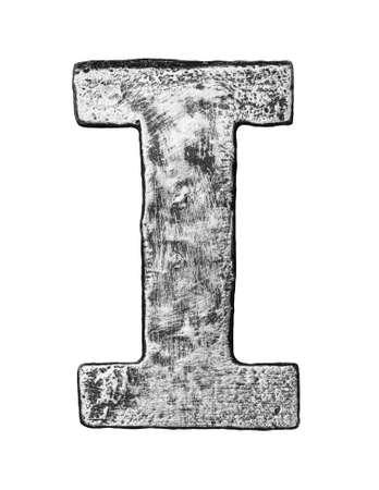 alloy: Metal alloy alphabet letter I