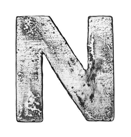 Metal alloy alphabet letter N Stock Photo - 22729149