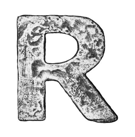 Metal alloy alphabet letter R Stock Photo - 22729152