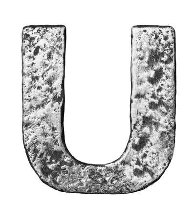 Metal alloy alphabet letter U Stock Photo - 22729159
