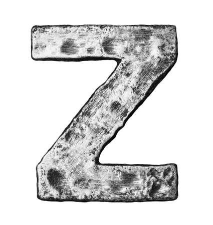 Metal alloy alphabet letter Z photo