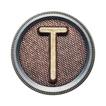 Metal button alphabet letter Stock Photo - 22729205