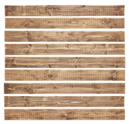 Old wooden planks isolated on white background photo