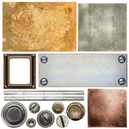 Metal textures, backgrounds, screw heads Stock Photo - 23335588