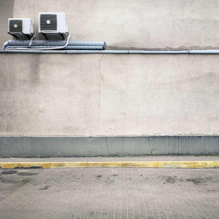 graffiti brown: Urban background. Empty street wall. Stock Photo