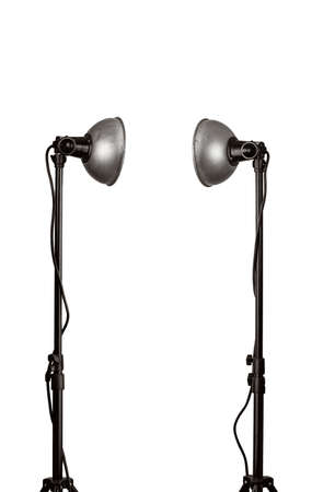 lamp stand: Old lamps on a stands, isolated