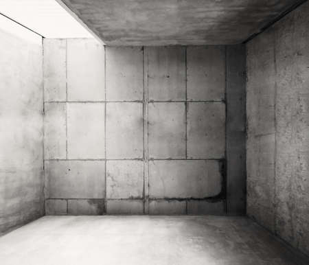 empty warehouse: Empty warehouse room with concrete walls and floor.