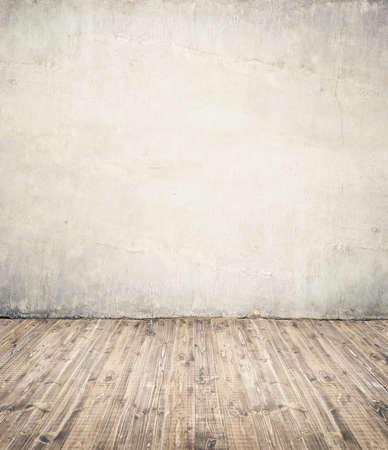 Empty room background. Wall ant wooden floor. Stock Photo