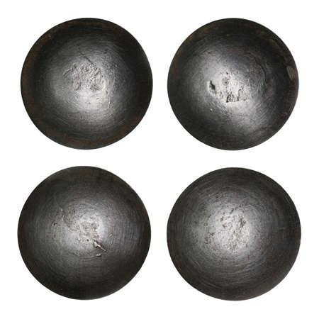 rivet: Rivet heads isolated on white.