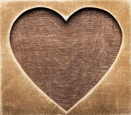 Wooden heart shape background photo