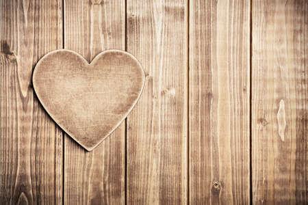 Houten hart vorm achtergrond Stockfoto