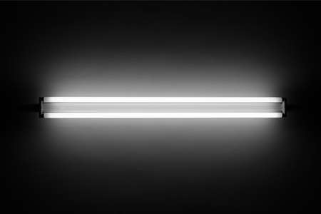 fluorescent: Fluorescent light tube on the wall