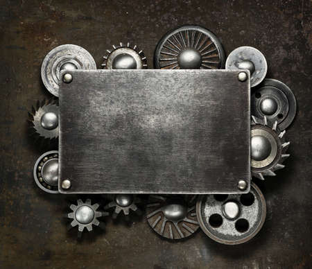 Industrial dark metal background photo