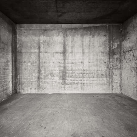 Empty room with concrete walls and floor. Stock Photo - 25963387