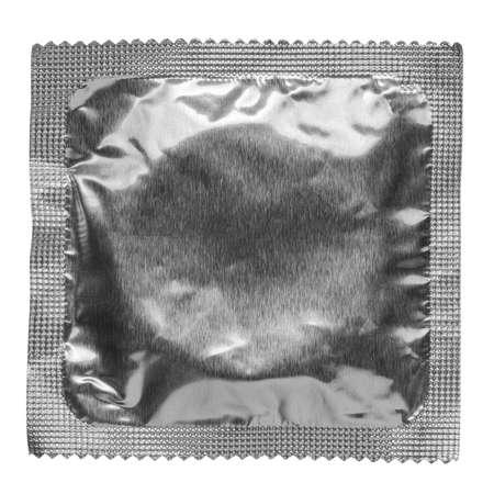Condom isolated on white background  photo