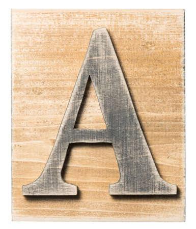 abc blocks: Wooden alphabet letter block isolated on white Stock Photo
