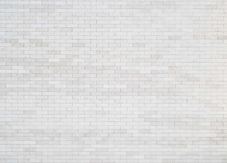 White brick wall background, texture photo