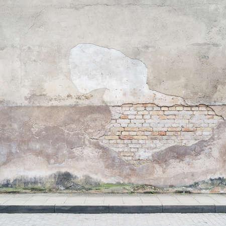Lege straat muur achtergrond, textuur