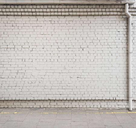 Urban background. Empty street wall. Stock Photo
