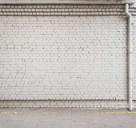wall street: Urban background. Empty street wall. Stock Photo