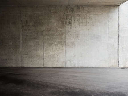 Urban background. Empty concrete wall and floor. photo