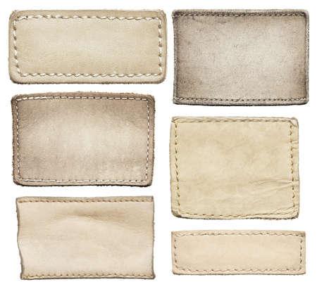 etiquetas de ropa: Pantalones de cuero etiquetas, etiquetas de cuero.
