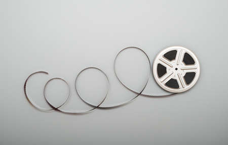 Motion picture film reel. Stock Photo - 27153106